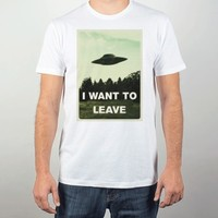 I Want To Leave-Unisex White T-Shirt