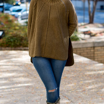 Free People Spin Around Poncho - Moss