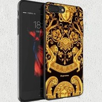 Top Supreme Medusa Gold Pattern Fit Hard Case For iPhone 6 6s 7 8 Plus SE Cover