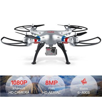 SYMA X8C X8W X8G Drone with Camera HD 1080p Professional Quadcopter 4CH 6 Axis FPV RC Dron Wifi Real-time Transmit RC Helicopter