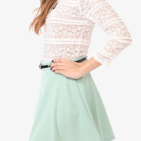 Ruffle Trimmed Lace Top