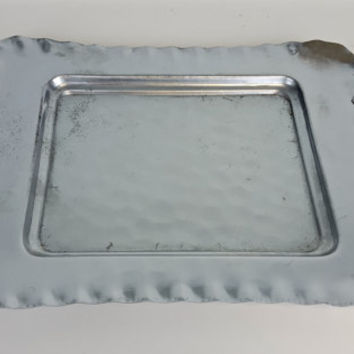 Vintage Tray Hammered Metal Tray, Hammered Metal Serving Tray, Key Bowl, Catch All Dish, Key Dish, Key Tray, Serving Tray, Decorative Tray