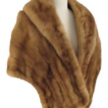 Vintage Honey Brown Mink Stole