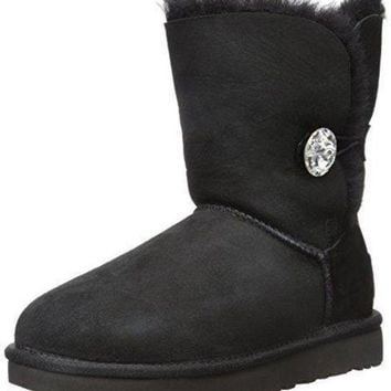CREYONV UGG Women's Bailey Button Bling Winter Boot