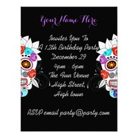 Fun Girly Sugar Skull and Roses Party Time