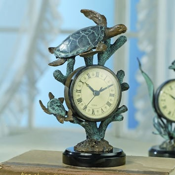 SPI Nautical and Decorative Sea Turtle Clock