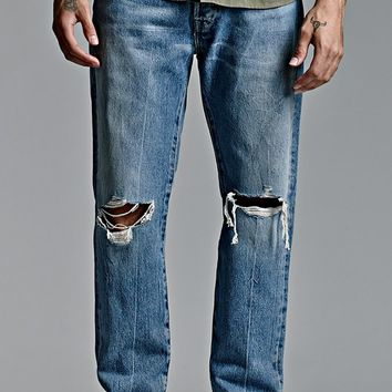 Levi's 501 CT Broken Gate Jeans - Mens Jeans - Super Destructed