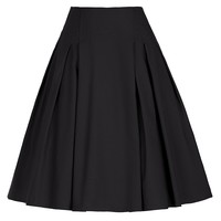 GRACE KARIN Women Knee-Length Flare Midi Skater Skirt with Pockets CL8925