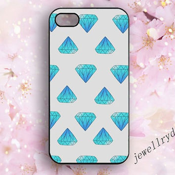 Diamond iPhone 5 case,Jewelry iPhone 4/4s case,blue diamond samsung Galaxy S5 S4 S3 Cover,iphone 5c/5s case,Eternal love