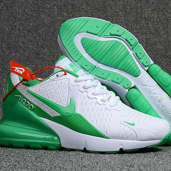 Nike Air Max 270 Flair Sneakers Sport Shoes White&Green