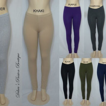 Imagenation Leggings-Cotton / Spandex - 9 Colors