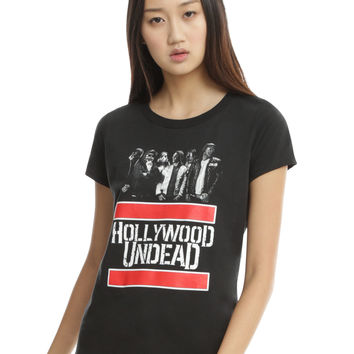 Hollywood Undead Group Logo Girls T-Shirt
