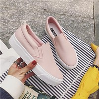 Women Simple Casual Thick Bottom Sneakers Loafer Flats Shoes