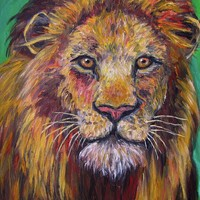 Lion Stare Greeting Card for Sale by Kendall Kessler