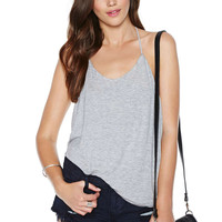 Light Grey Strappy Backless Top