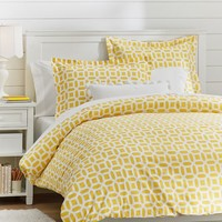 Peyton Duvet Cover + Sham, Yellow