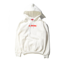 Supreme autumn and winter tide brand hooded sweater couple simple men and women coat sweater