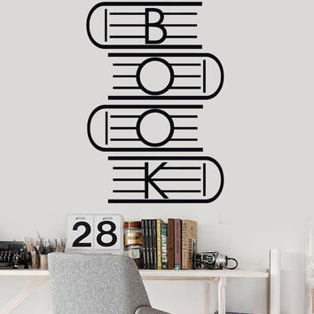Vinyl Wall Decal Book Reading Room School Library Stickers Murals Unique Gift (ig4750)
