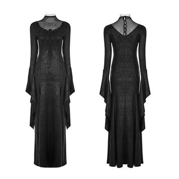 Women's Gothic Pagoda Sleeve Open Forklift Gorgeous High Cross Dress - Punk Design