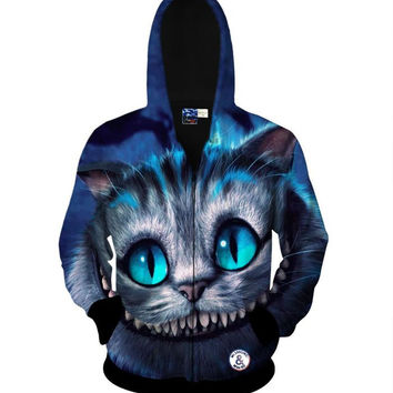 Harajuku Cute Funny 3d Sweatshirt Men Dog Cat Wolf Tiger Lion Panda Animal Print Hoodies Sportswear Autumn Winter Coat Outerwear