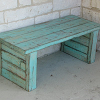 Coffee Table, Bench or Side Table in Aqua Color Pop