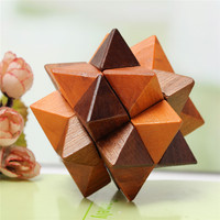 New Arrival 3D Wooden Puzzle IQ Brain Teaser Kon Ming Lock Ball Magic Cube Mind Brain Teaser Game Toy for Adults Children