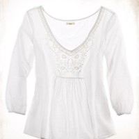 Aerie Embroidered Gauze Top - Aerie