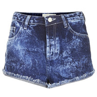 MOTO Acid Wash Denim Hotpant