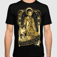 Supernatural Castiel Men's  T-shirt Hot New 2017 Summer Fashion T Shirts Print T Shirt Men Top Tee Cool O-Neck Plus Size