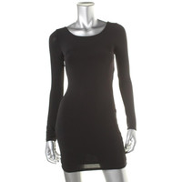 Guess Womens Long Sleeve Crossover Cocktail Dress