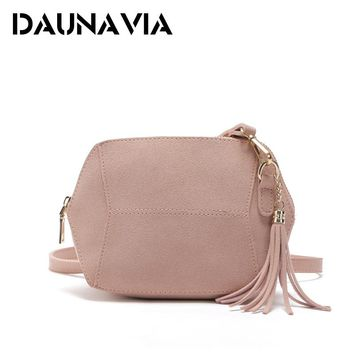 DAUNAVIA Womens Faux Suede Leather Diagonal Shoulder Bag Ladies Solid Zipper Satchel Handbag Tote Hobo Bucket Soft Crossbody Bag