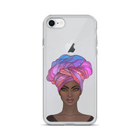 iPHONE CASE Custom Cell Phone Iphone X Cases iPhone Case 8 Afrocentric Print Hair Wrap Gift Birthday Gift iPhone 7 Plus Case iPhone SE Case