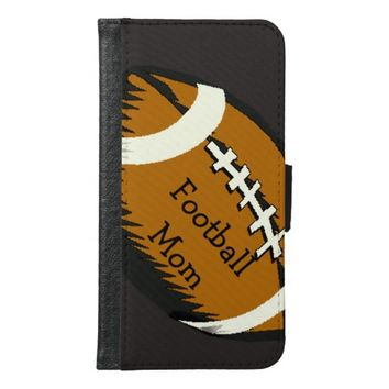 Football Mom Brown Sports Galaxy S6 Wallet Case