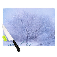 "Alison Coxon ""Winter Tree"" Lilac Cutting Board"