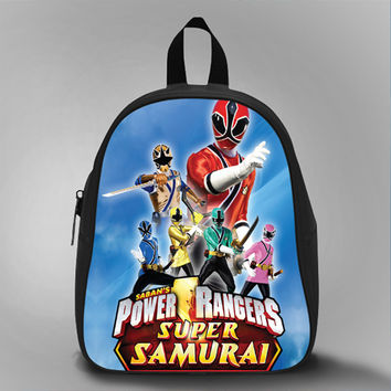 Power Ranger Super Samurai, School Bag Kids, Large Size, Medium Size, Small Size, Red, White, Deep Sky Blue, Black, Light Salmon Color