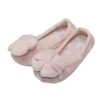 Home Soft Pink Flower Top Slippers
