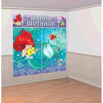 Ariel Party Scene Setters Wall Decorating Kit
