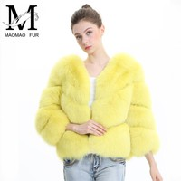 Real Fox Fur Coat Women Winter Genuine Fur Jacket Autumn Mink Coat Fox Fur Outerwear Women Clothes Natural Fox Fur Jacket Female
