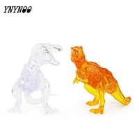 YNYNOO New Arrival 3D Dinosaur Crystal Puzzle Animal Assembled Model DIY Educational Toys Kid's Best Gifts Home Decoration Toys