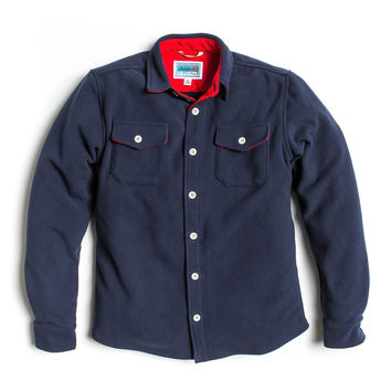 Bonded Fleece Shirt Jacket - Navy
