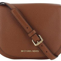 Michael Kors Bedford Women's Crossbody Bag Purse Leather Brown