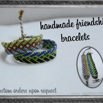 Braid Pattern String Friendship Bracelet