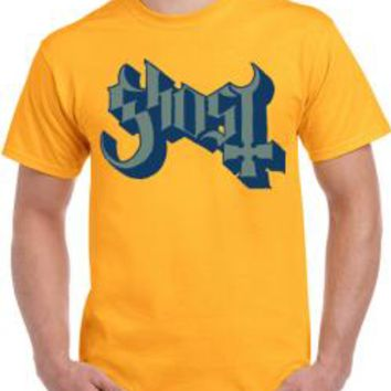 Ghost T-Shirt - Logo On Yellow