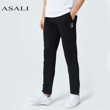 Men Casual Pants Male Straight Trousers Cotton Patchwork Cargo Pants Men's Hip Hop Trousers Fashion Sweatpants Jogger
