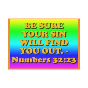 Bible verse from Numbers 32:23. Canvas Print