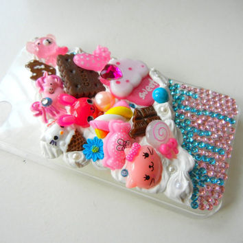 Iphone 4 Kawaii Decoden Deco Case Whip  Snap Case by StyleRaiders