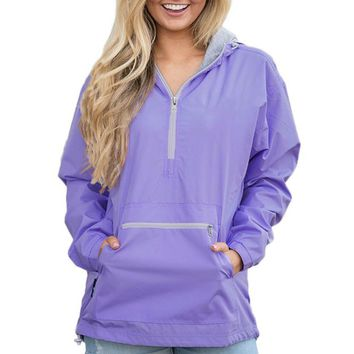 Chicloth Lilac Monogrammed Pullover Rain Jacket