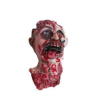 Halloween Bloody Horror Adult Infected Eye Dropped Zombie Mask Scary Costume Party Props Costume Screaming Corpse Head Mask