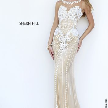 Sherri Hill 9737 Beaded Sheath Prom Dress