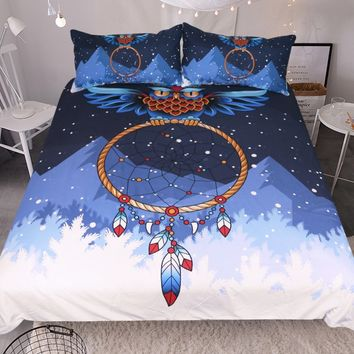 2/3pc Dreamcatcher Bedding Set  Bohemian Bedclothes 3D Duvet Cover  (Twin Full Queen King Size)